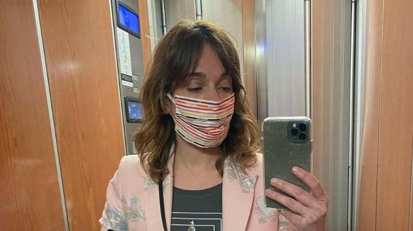 Marina Condesa, diseñadora de La Condesa, ha elaborado diferentes modelos de tapabocas.(Instagram.)
